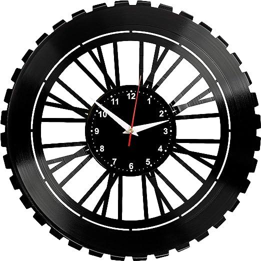 EVEVO Bicicleta Reloj De Pared Vintage Diseño Moderno Reloj De ...