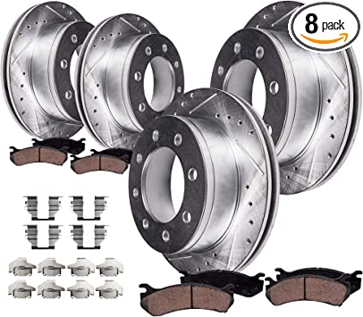 Front Rotors Ceramic Pads For 1999 2000 2001 2002 2003 2004 Excursion F250 F350