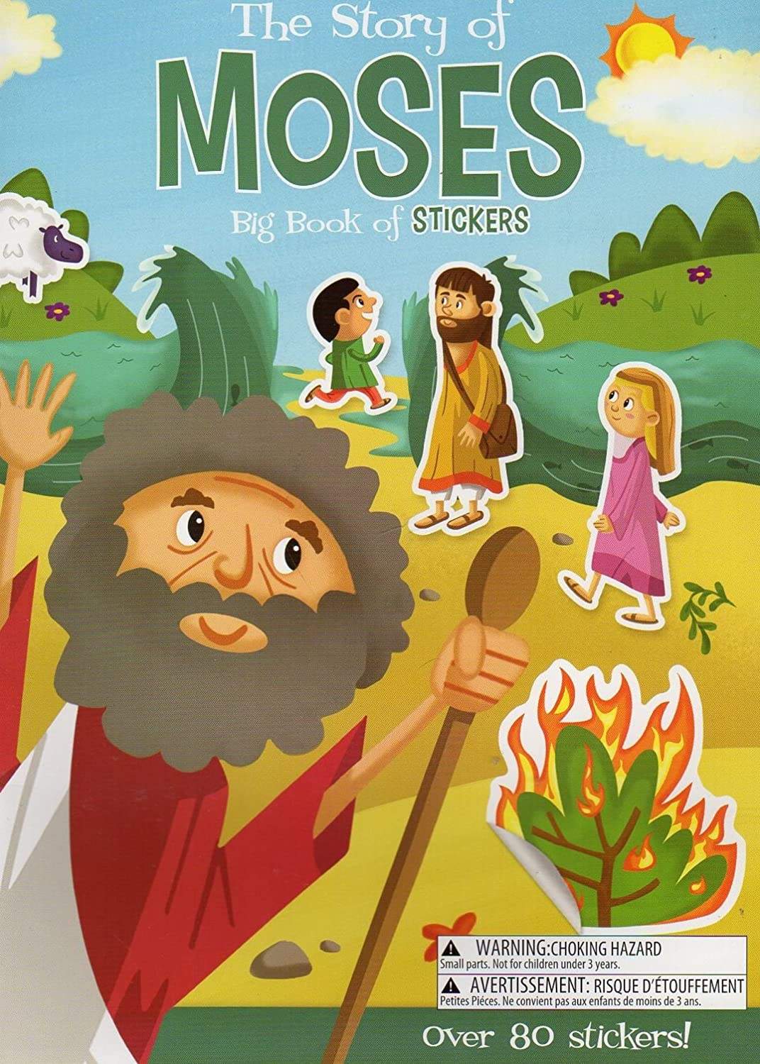 Big Book of Stickers The Story of Moses Activity Book Includes Over 80 Stickers The Clever Factory