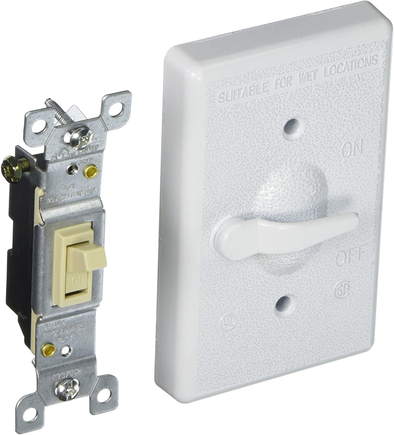 Bell Single Gang Weatherproof Switch Cover Gray 5121-0//527362