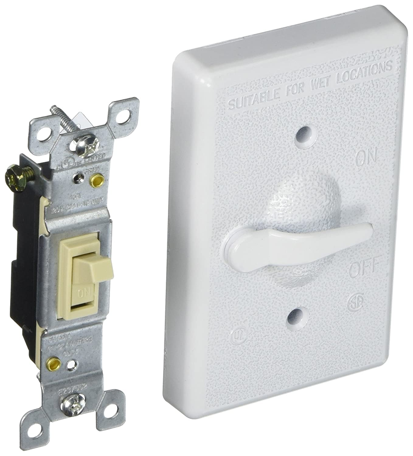 Hubbell-Bell 5121-1 1-Gang Vertical Lever Switch Weatherproof Cover ...
