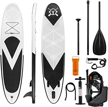 KLAR FIT Klarfit Spreestar - Tabla de pie Hinchable, Paddleboard ...