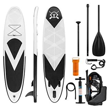 Klarfit Spreestar • Tabla de pie Hinchable • Paddleboard • Paddle Surf • Tabla Sup 300x10x71 ...