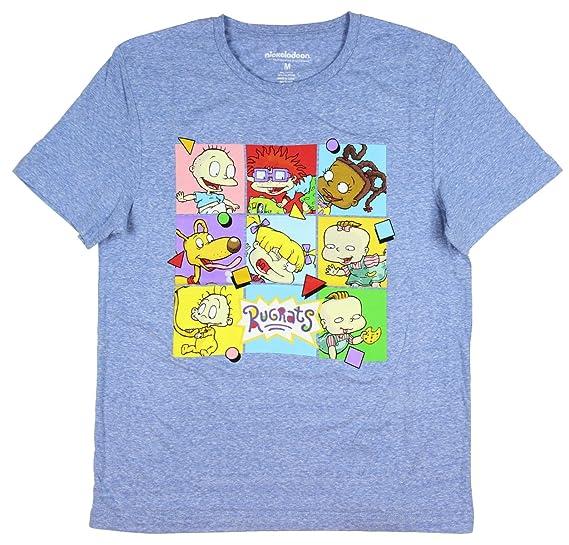 21ff7ea70fb Hybrid Nickelodeon Rugrats Character Faces In boxes Men s T-Shirt (Medium)