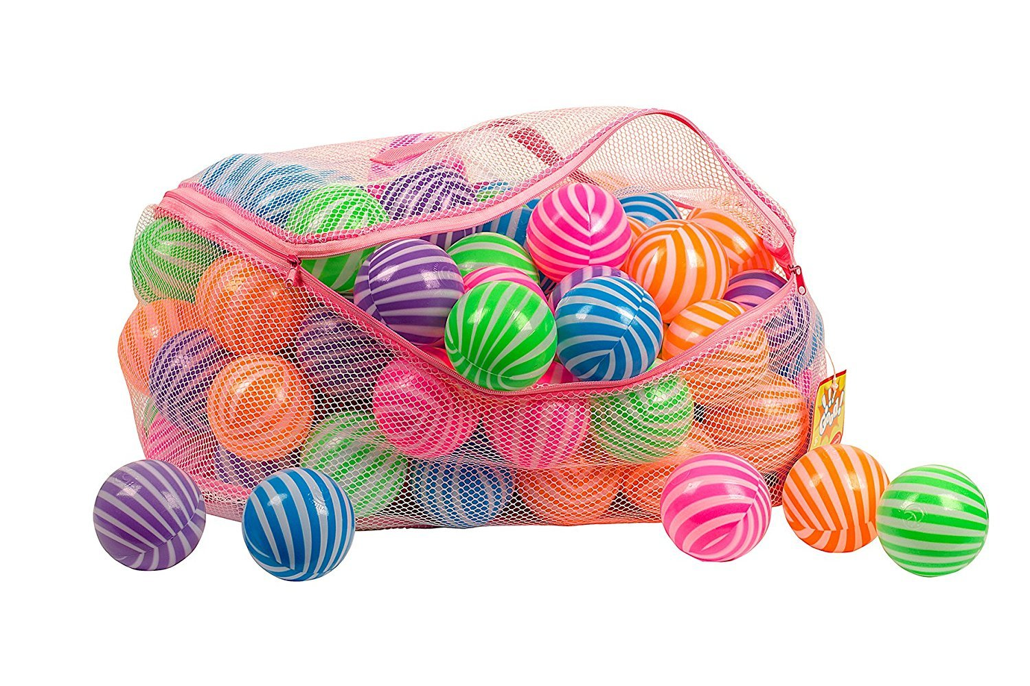 Amazon.com: Toysag Ball Pit 100 Pack STRIPE SHAPE Comes With Storage Bag  With Zipper BPA Free Ball Pit Balls, Crush Proof Pit Balls For Kids And Ball  Pits ...