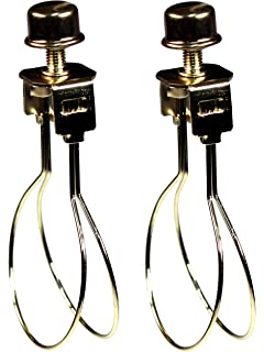 Upgradelights 2 Lamp Shade Bulb Clip Adapters - Clip on Only - No ...:Creative Hobbies® 2 Pack -Lamp Shade Light Bulb Clip Adapter Clip on with  Shade,Lighting