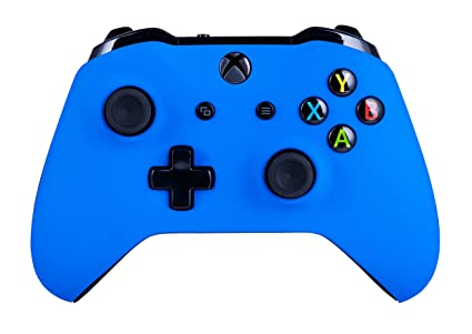 Xbox One S Wireless Controller for Microsoft Xbox One - Soft Touch Blue X1  - Added Grip for Long Gaming Sessions - Multiple Colors Available