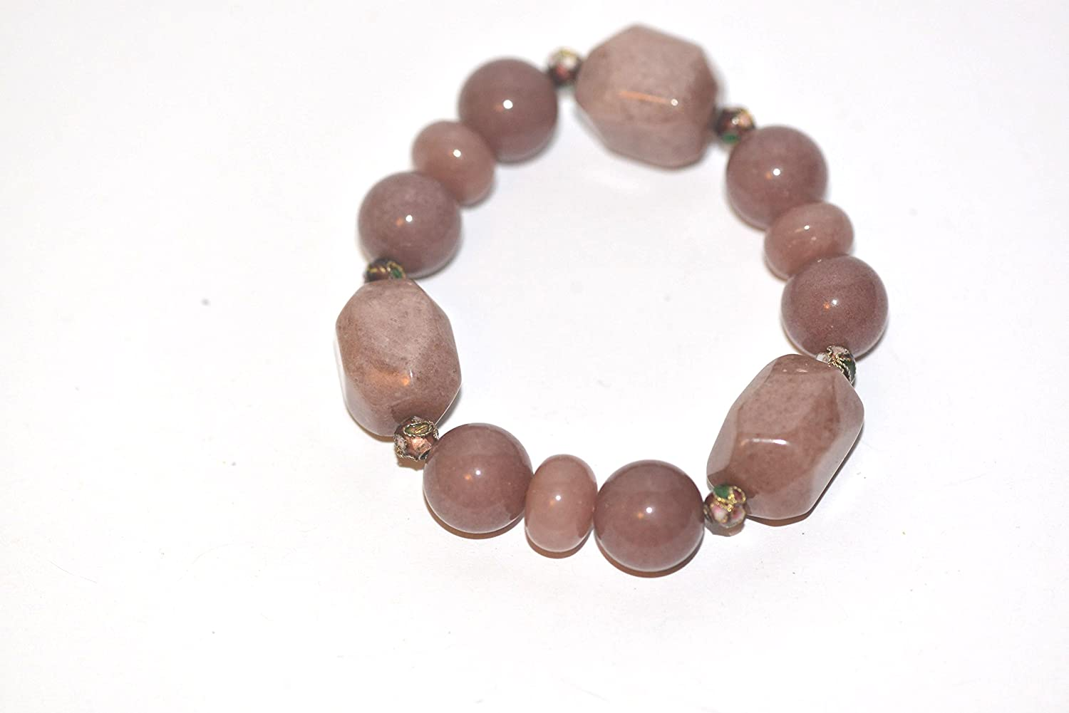 Natural Semi-Precious Stone Stretch Bracelet Bangle