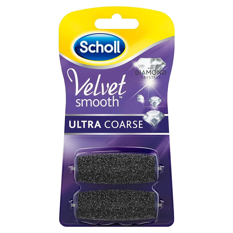 Scholl Velvet Smooth Rouleaux de rechange ultra solide avec diamant particules, 1er Pack (1x 2pièces) 3040423