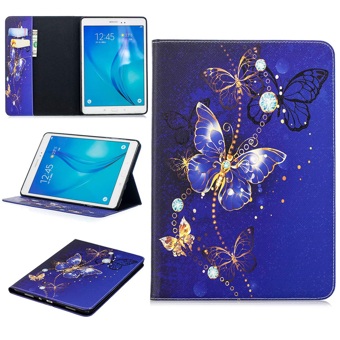 Samsung Galaxy Tab S3 9,7 Case Cover, Lotuslnn Slim Smart Shell Stand Cover with Protective and Auto Sleep/Wake for Samsung Galaxy Tab S3 9.7-Inch Tablet (SM-T820/T825)(with 1 Touch Pen) - Hello Panda