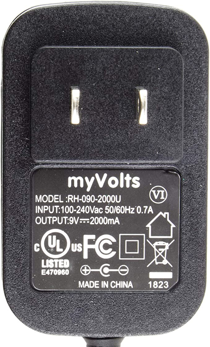 MyVolts 9V Power Supply Adaptor Compatible with Brother PT-1750 Label Printer US Plug