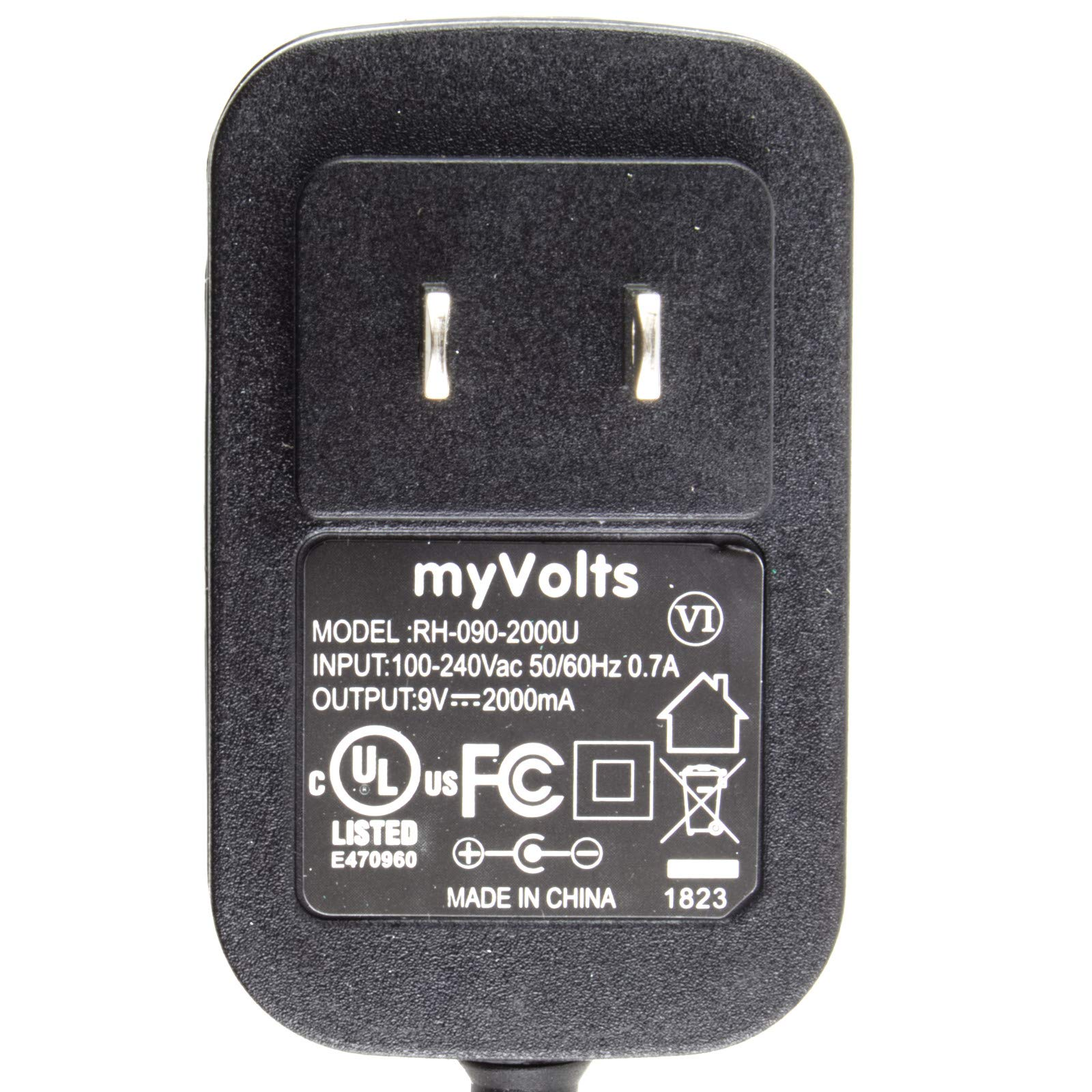 MyVolts 9V Power Supply Adaptor Compatible with Brother PT-1280 Label Printer - US Plug by MyVolts (Image #3)