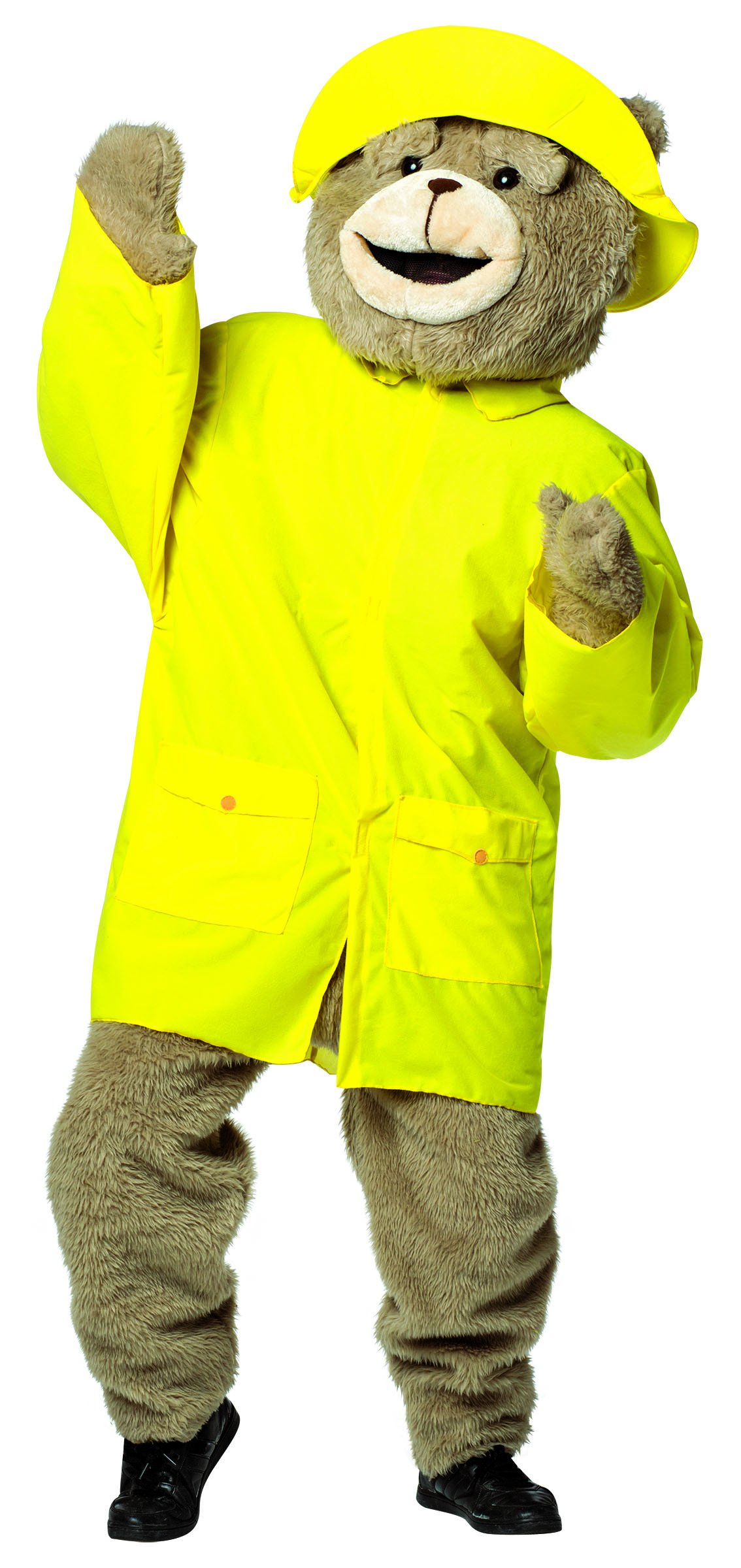 Rasta Imposta Men's Ted 2 Kit Rain Slicker and Hat, Yellow, One Size