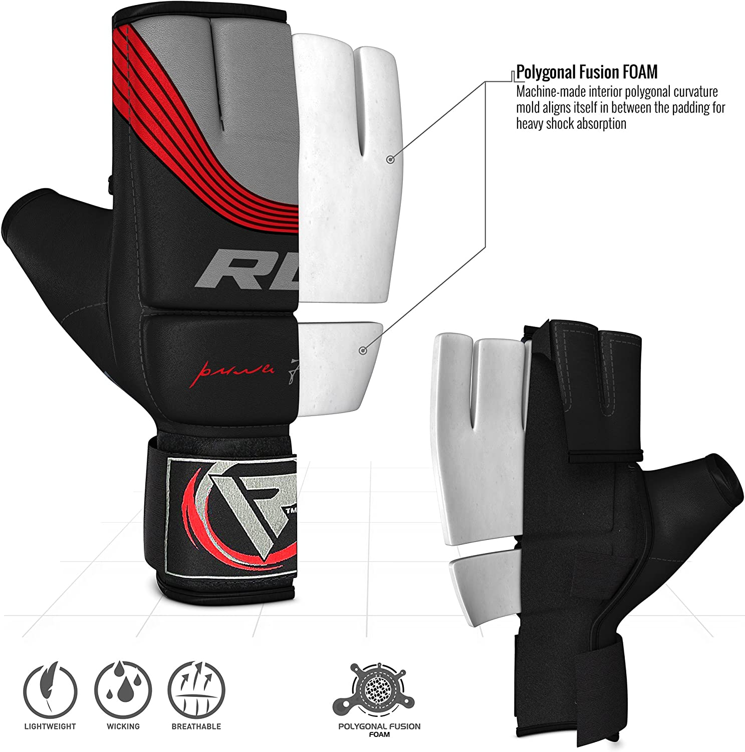 Muay Thai Maya Hide Leather Mitts for Kickboxing Cage Fighting and Punching Bag RDX MMA Gloves for Grappling Martial Arts Training Sparring