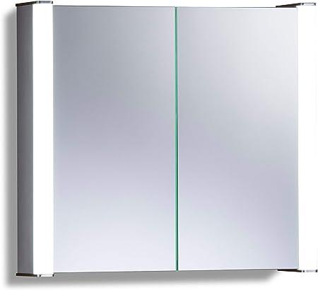 Neue Design Armario de baño con Espejo Iluminado por LED C12 con Sistema antivayo, Interruptor para