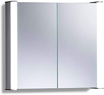 Neue Design Led Illuminated Bathroom Mirror Cabinet With Demister
