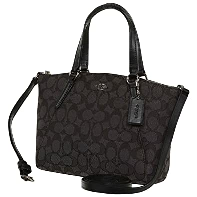 Coach Womens Fabric Dumpling Bag F27580 (Gray Black)  Handbags ... 026a6bcb1