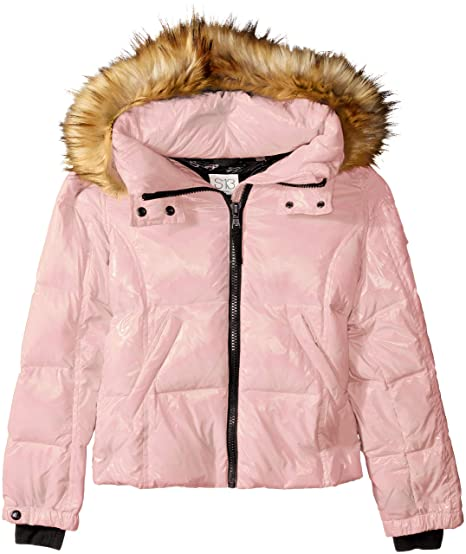 e4022cfec9 S13 Girls' Mogul Gloss Down Puffer with Faux Fur Hood