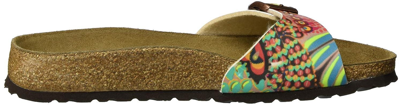 Papillio Madrid Birko-Flor Wax Damen Pantoletten Mehrfarbig (African Wax Birko-Flor Raspberry) 52a321