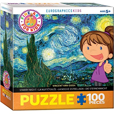 EuroGraphics Starry Night by Vincent Van Gogh 100-Piece Puzzle: Toys & Games