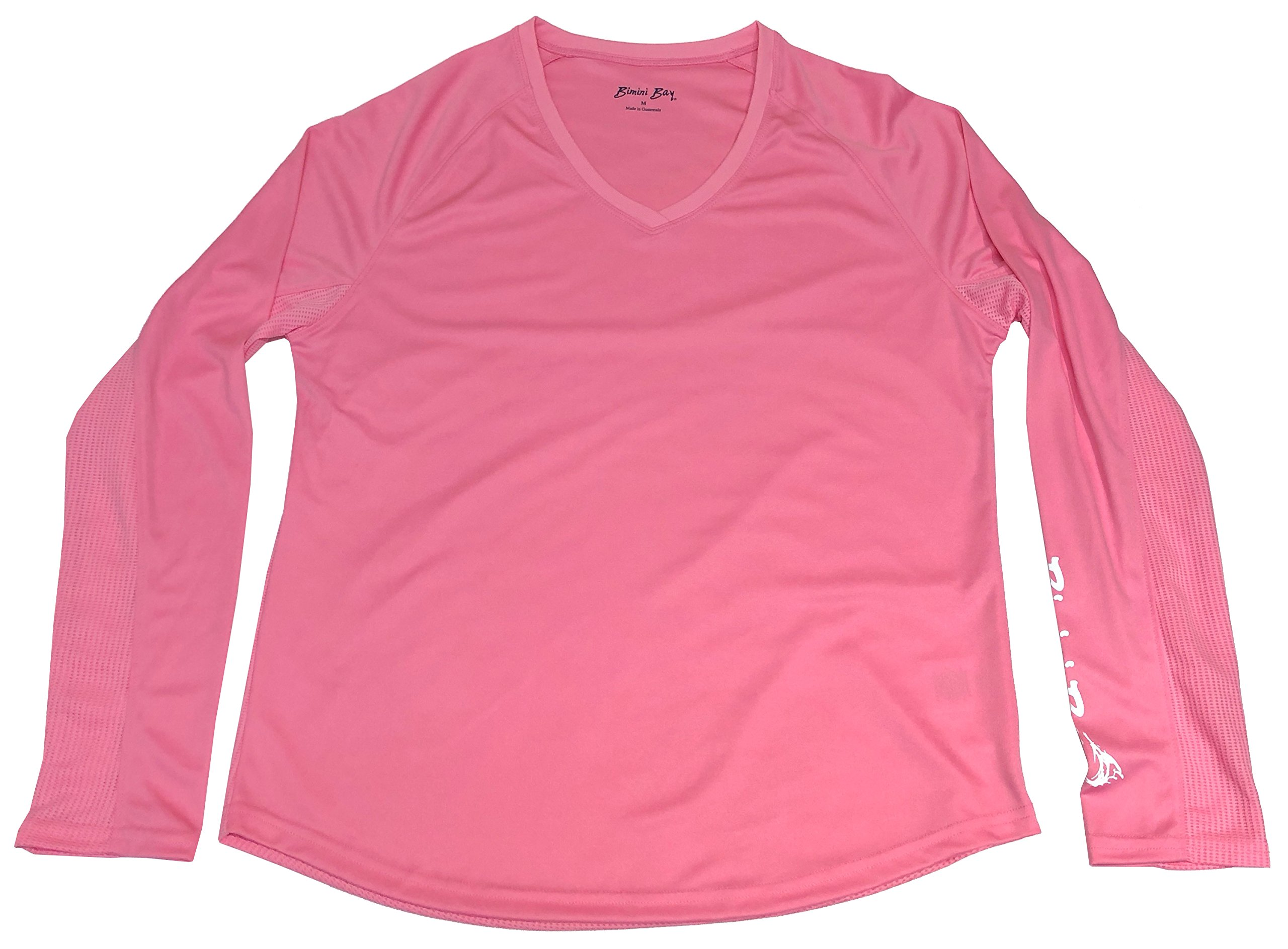 Bimini Bay Outfitters Women's Cabo Long Sleeve V-Neck Shirt (Pink, Large) by Bimini Bay Outfitters