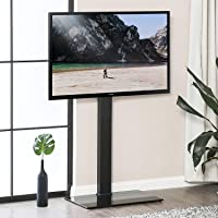 FITUEYES Floor TV Stand with Swivel Mount Height Adjustable for 32 to 65 Inch Screen TT107501MB