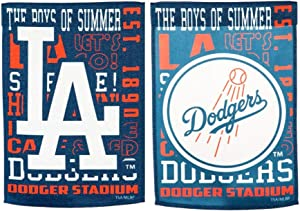 Rico Industries, Inc. Dodgers Fan Rules Design Premium 2-Sided Garden Flag Outdoor House Banner Baseball