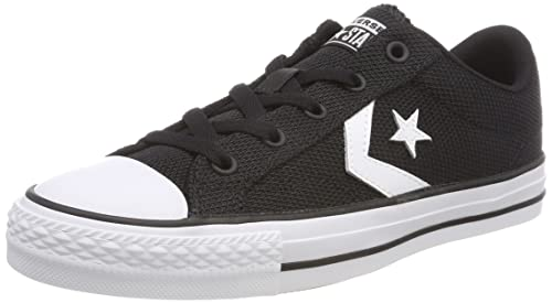 Converse Star Player Ox, Sneaker Unisex-Adulto, Nero (Black/White/Black 001), 42 EU
