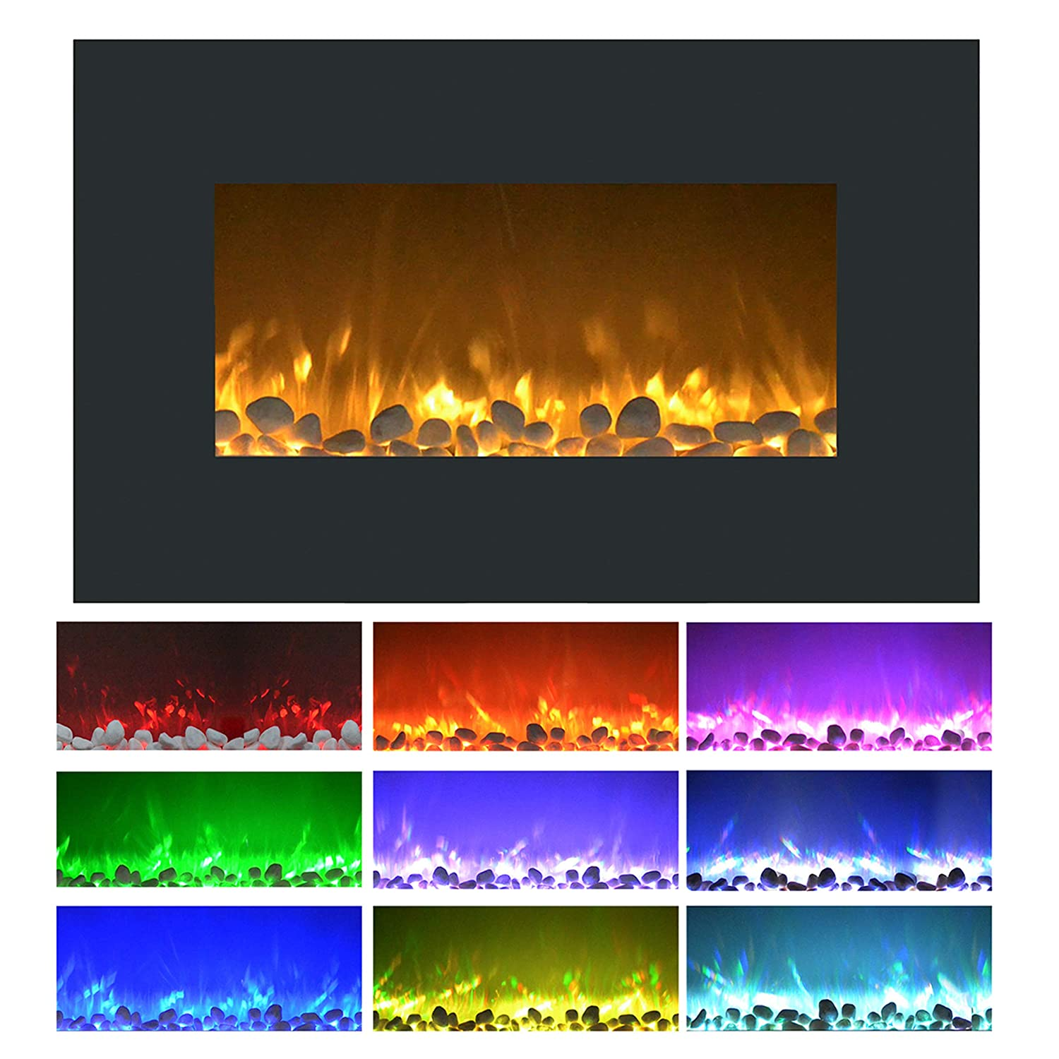 World Marketing Comfort Glow Electric Infrared Electic Quartz Fireplace, Length 10.2in, Width 23.1in, Height 26.1in