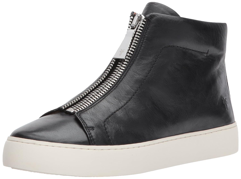 FRYE Women's Lena Zip High Fashion Sneaker B01MU3RXMZ 9.5 B(M) US|Black Polished Soft Full Grain