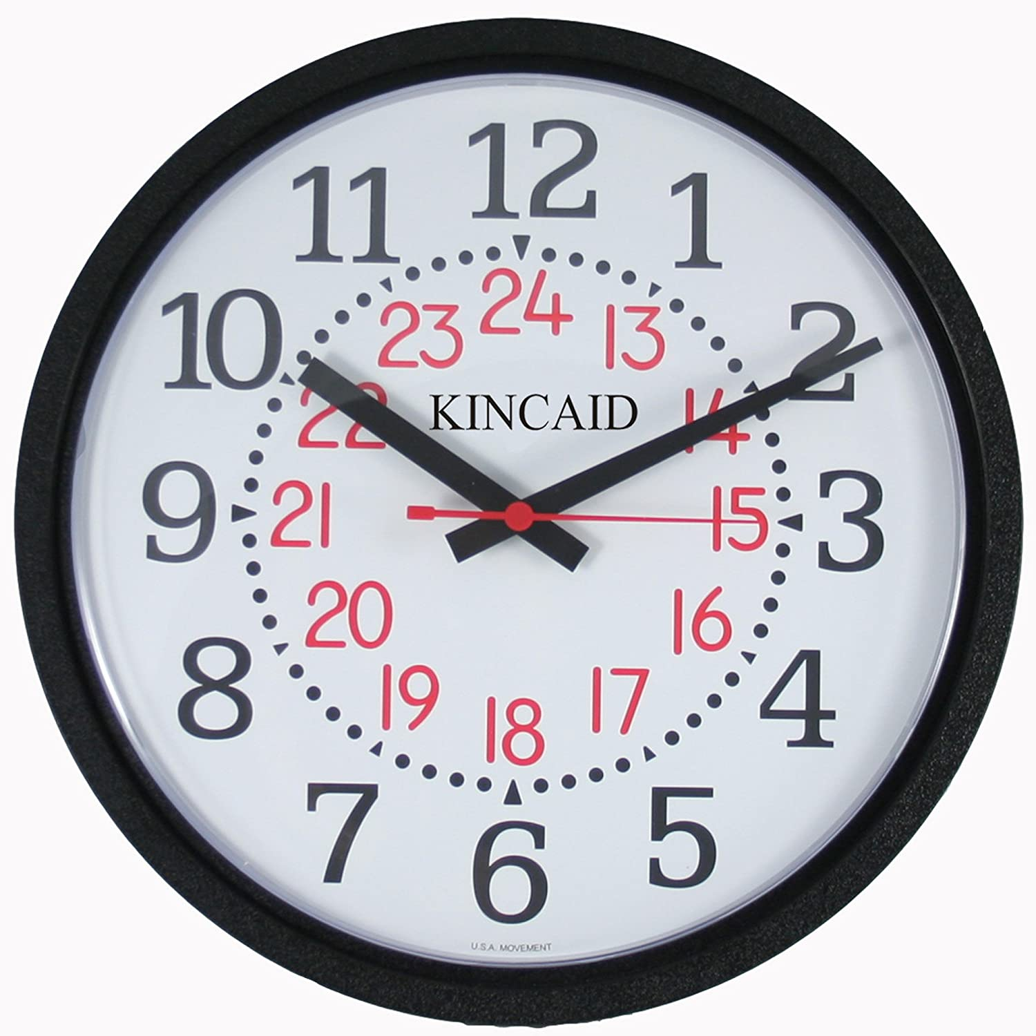 Military Time Clock >> Amazon Com Kincaid Wall Clock With Military Time Home Kitchen