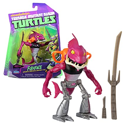 Playmates Year 2012 Nickelodeon Teenage Mutant Ninja Turtles 5 Inch Tall Action Figure - Shredders Underworld Underwater Thug FISHFACE with Sword and ...