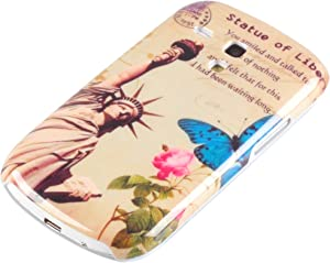 deinPhone su teléfono Galaxy S3 Mini Samsung HARDcarcasa Carcasa Protectora Estatua de la Libertad Flor Rosa