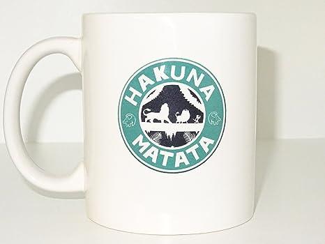 Amazon.com: Hakuna Matata, taza de café taza de té de la ...
