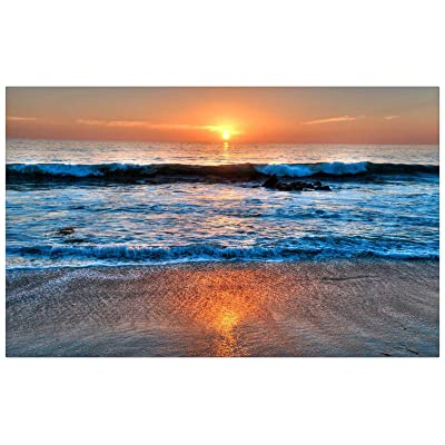 Jigsaw Puzzle 1000 Piece Surf Beach Scenery in The Sunset Decorative Paintings: Toys & Games