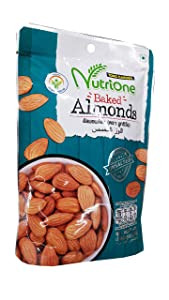 Tong Garden, 3 Packs of Baked Almonds, Premium grade snack by Nutrione Tong garden. Unsalted, This product has no added additives (85 g/pack).