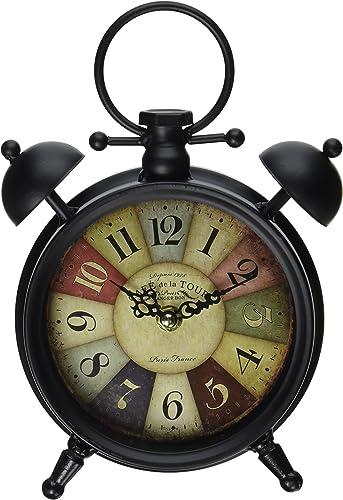 Blossom Bucket 1411-71377 Round Table Clock, 9-3 4 , Multicolor