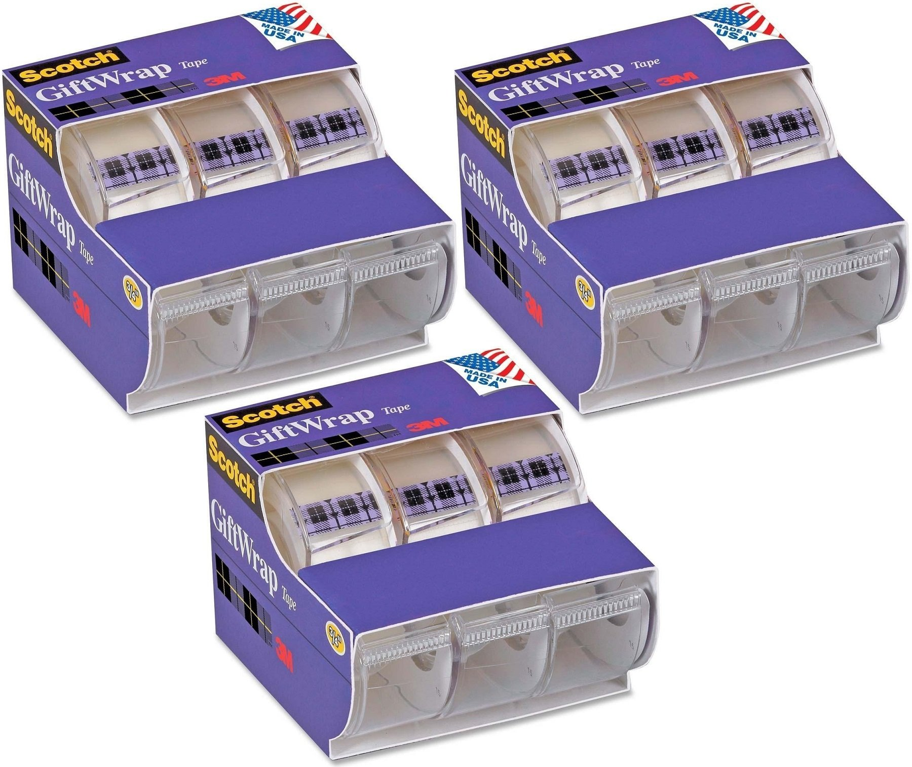 Scotch(R) Gift Wrap Tape, 0.75 x 300 Inches, 9 Pack (311)