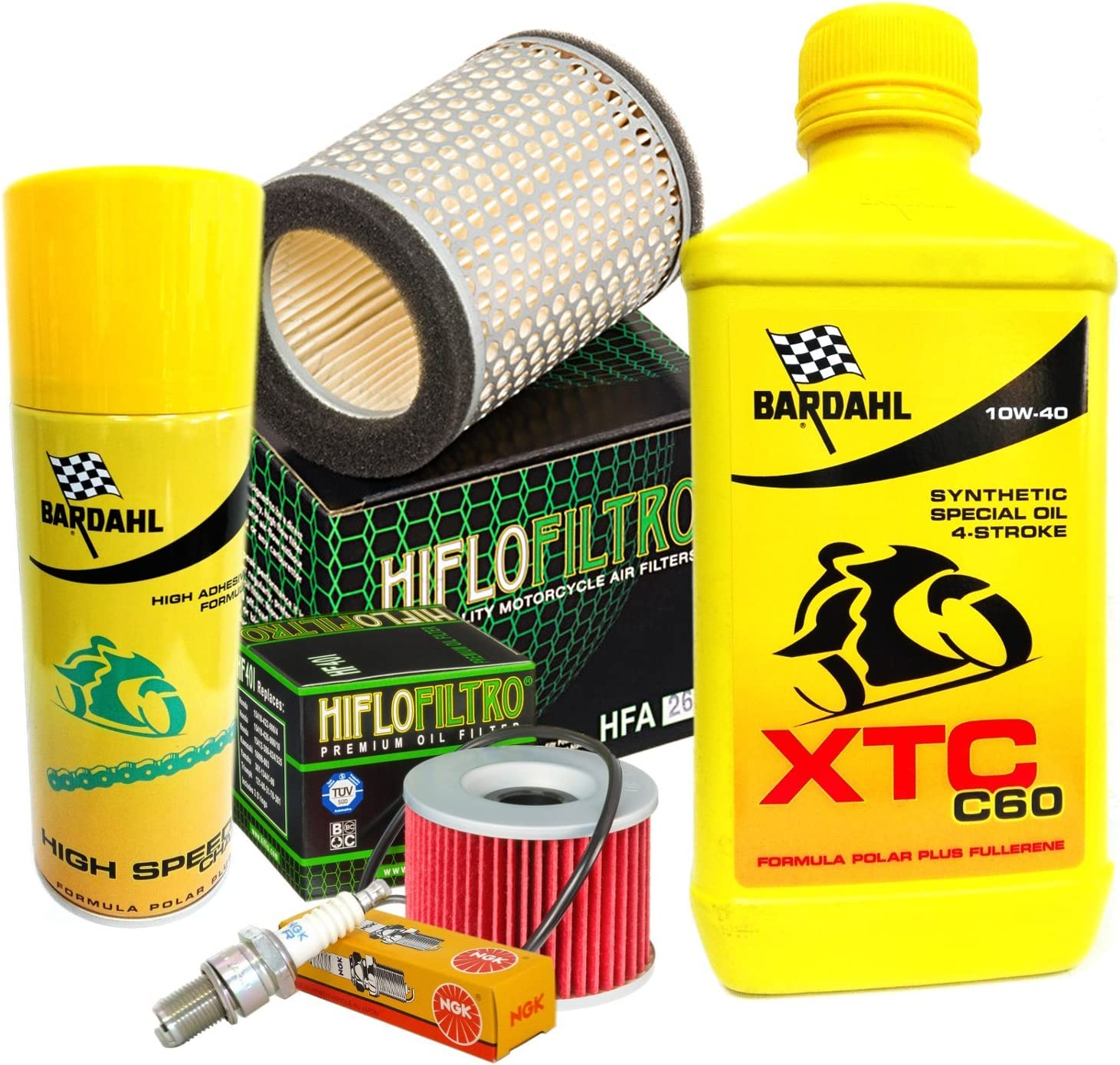 Set Service Bardahl Xtc 10w40 Ölfilter Luft Kerzen Spray Kz 650 78 80 Auto