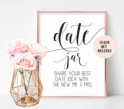 date jar sign wedding party signs bridal shower sign wedding shower decorations rustic