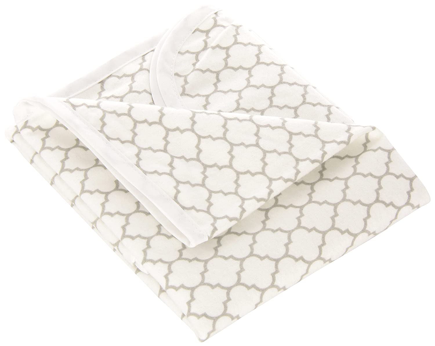 Kushies Baby Deluxe Change Pad, White/Grey Ornament P210-537