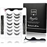 Luxillia By Amazon 8D Magnetic Eyelashes with Eyeliner Kit Free Applicator and Brush - Most Natural Look Lashes Set, 3x…