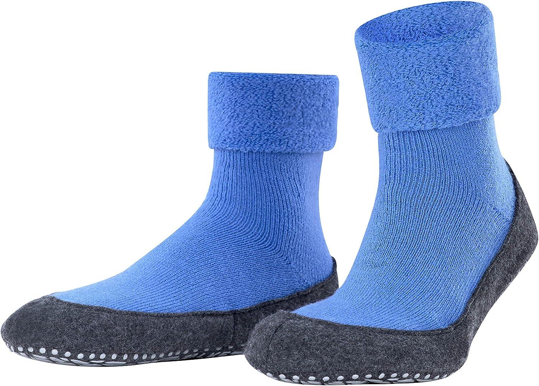 Hausschuhe Mit Rutschfesten Noppen blue iris 6474 45-46 Falke Stoppersocken Herren Cosyshoe M SO- 16560 Blau Merinowolle