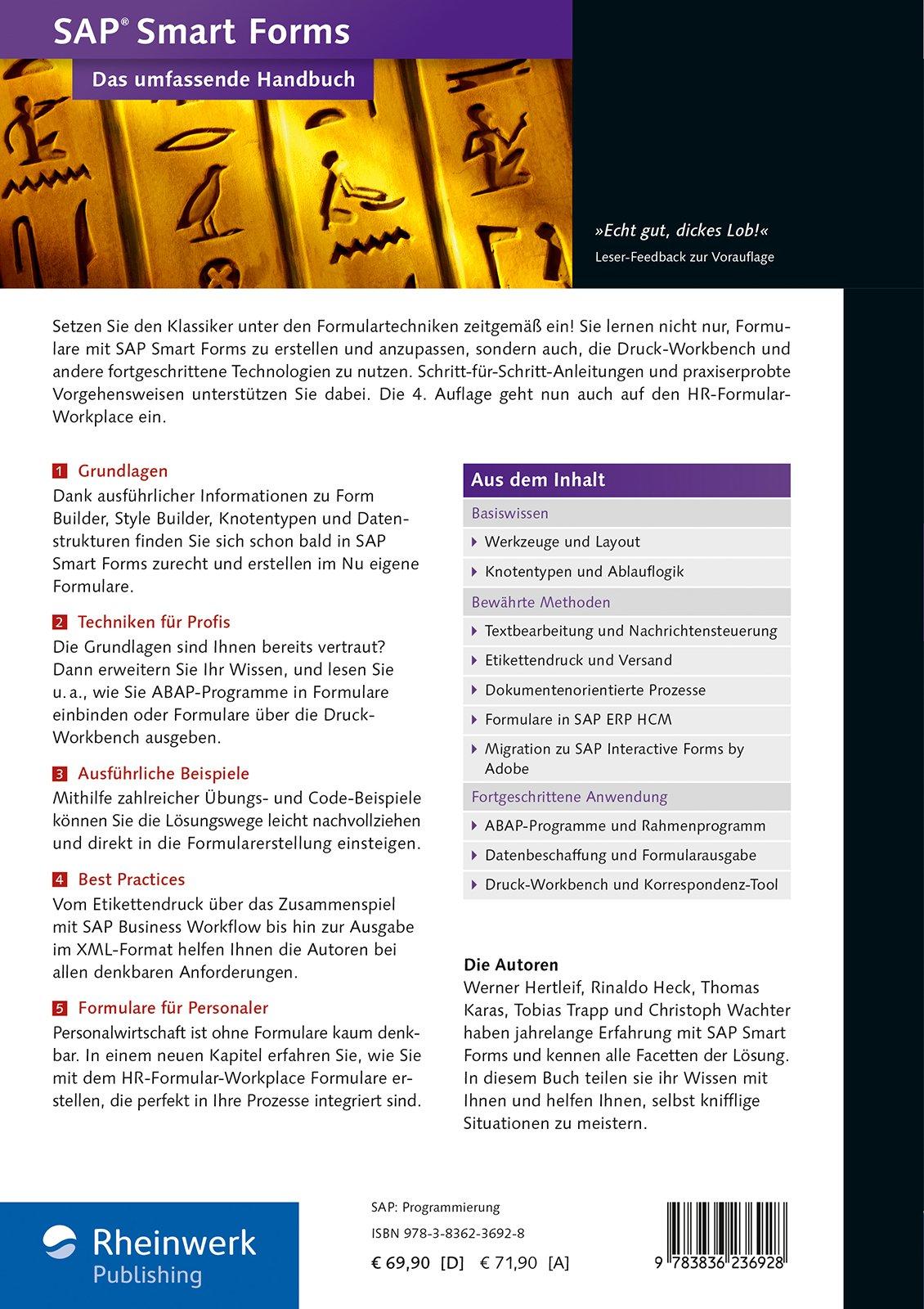 SAP Smart Forms: Das umfassende Handbuch - Standardwerk zur SAP ...
