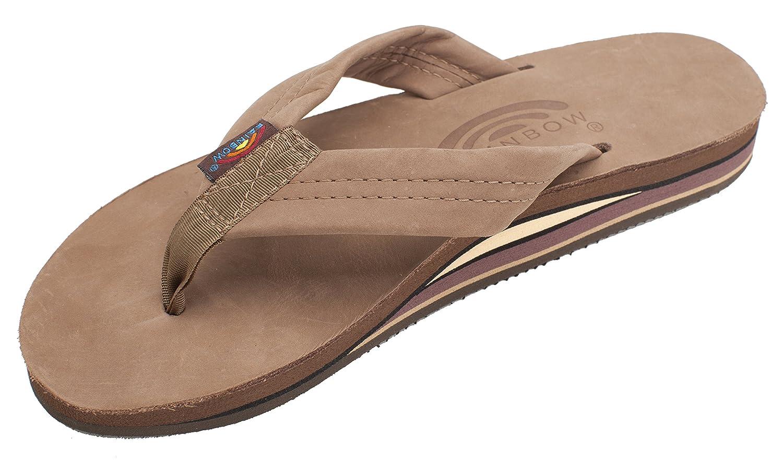 5583e68e29ce Amazon.com   Rainbow Sandals Women's Double Layer Premier Leather w/Arch    Flip-Flops