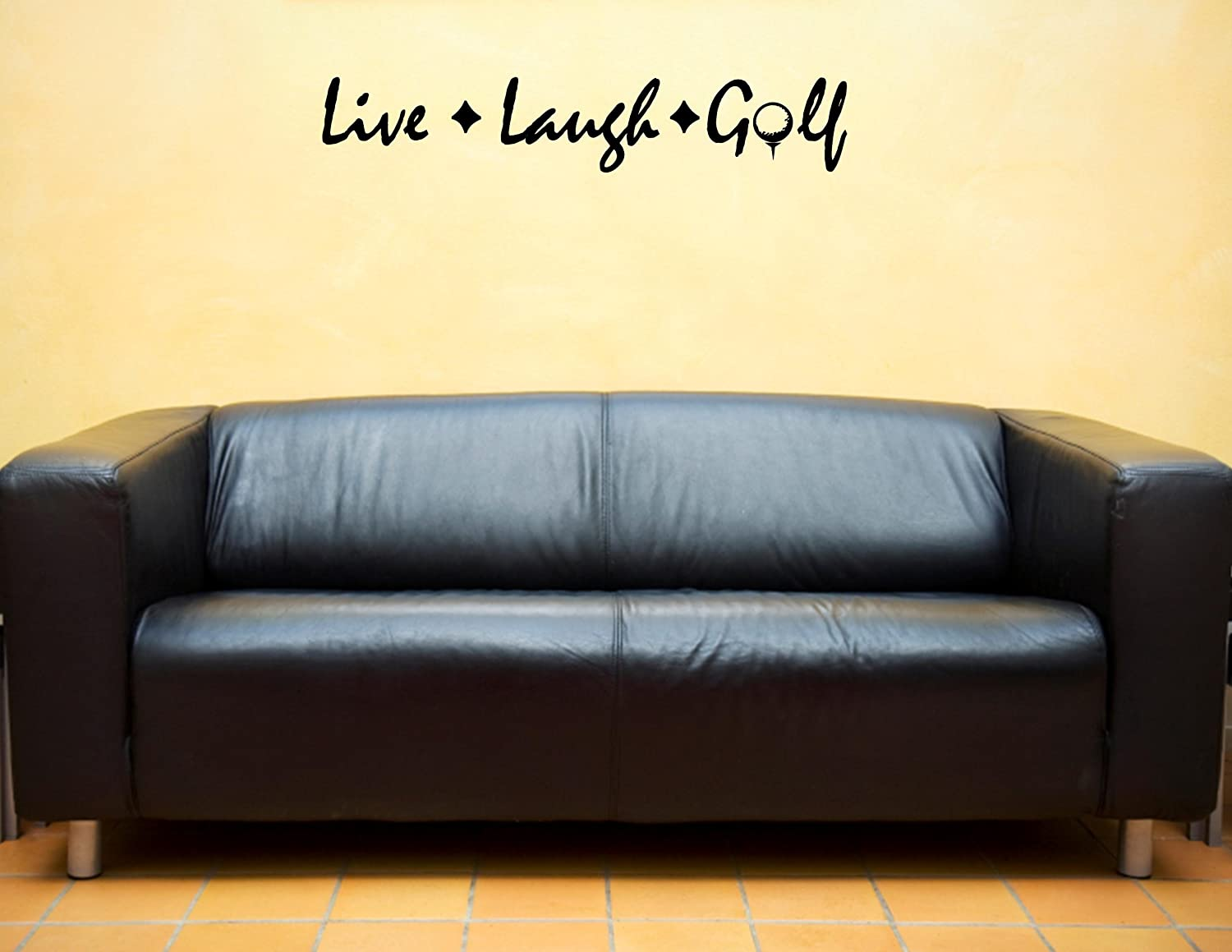 LIVE LAUGH GOLF Vinyl wall lettering stickers quotes and sayings ...