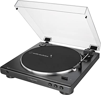 Audio-Technica AT-LP60X-BK Fully Automatic Belt-Drive Stereo Turntable, Black, Hi-Fidelity, Plays 33 -1/3 and 45 RPM Vinyl Records, Dust Cover, ...