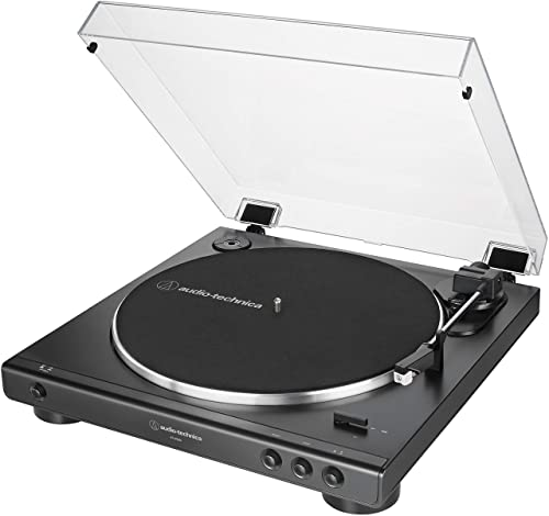 Audio-Technica At-Lp60x-Bk Belt-Drive Stereo Turntable
