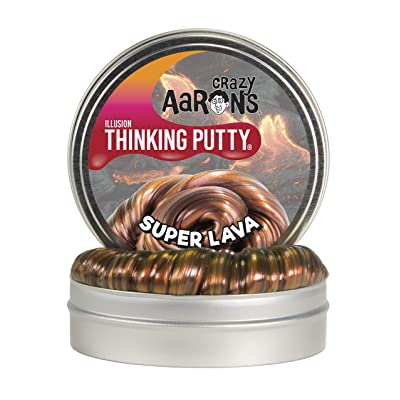 "Crazy Aaron's Thinking Putty 4"" Tin - Super Illusions Super Lava - Multi-Color Putty, Soft Texture - Never Dries Out: Toys & Games"