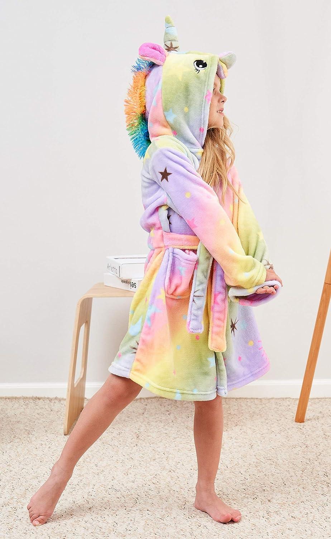 Unicorn Gifts for Girls Unicorn Hooded Bathrobe with Slippers